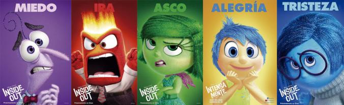 Personajes de la película Del revés (Inside Out)